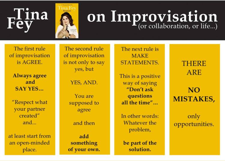 Tina Fey's book on improv is a must.