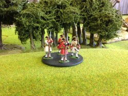 Irish Piquet/French Infantry standing resting on musket.