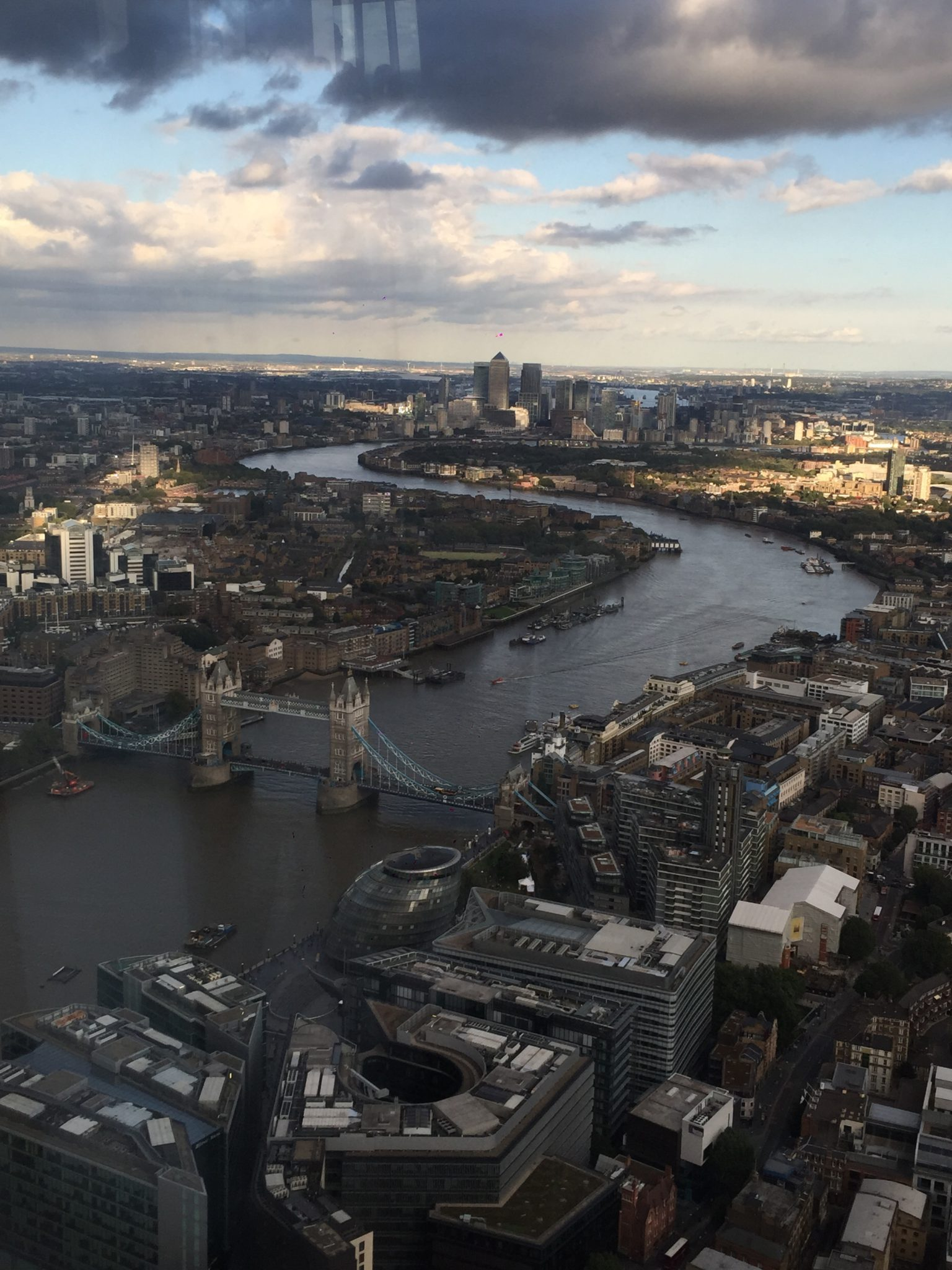 Le Tower Bridge depuis le Shard - Londres