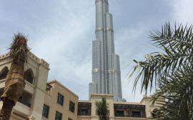 Dubai souk Burj Khalifa