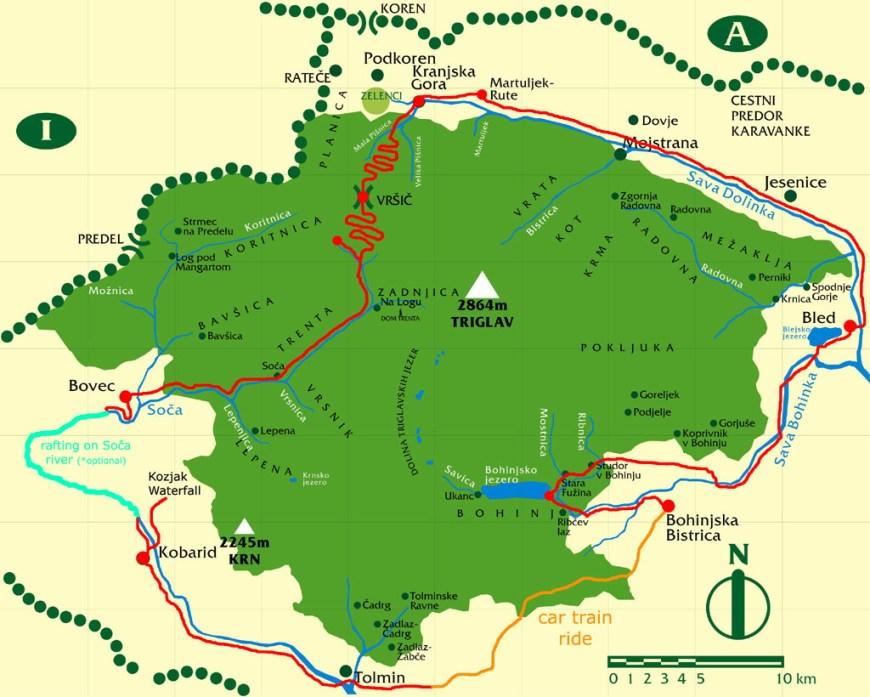 randonnée 3glav Adventures Mont Triglav