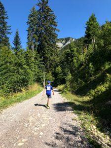 Chemin vers la cascade Haute Savoie