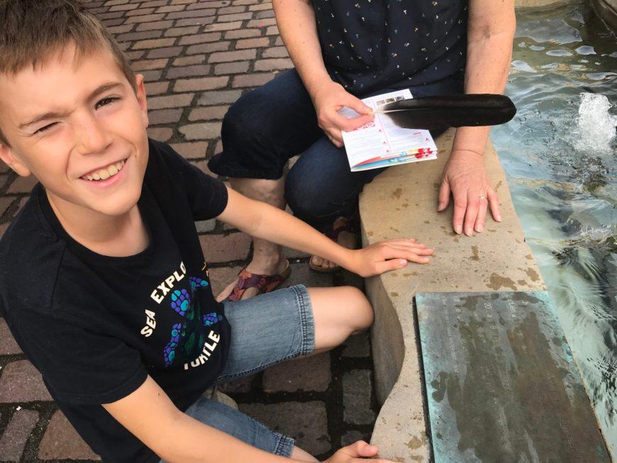 Découverte de la fontaine de Rouffach - les balades ludiques en Alsace