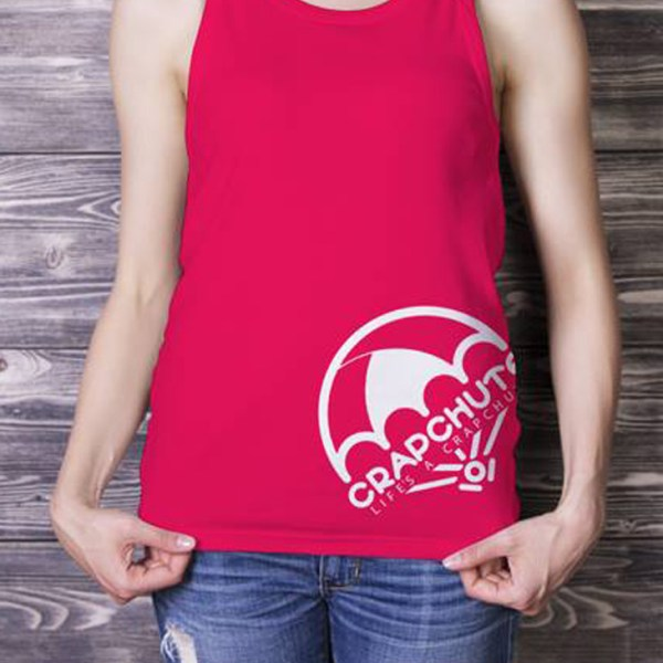Crapchute Women's Para Tank - Red