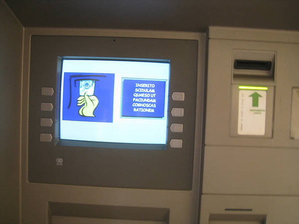 Vatican City Atm Displays Instructions In Latin Boing Boing