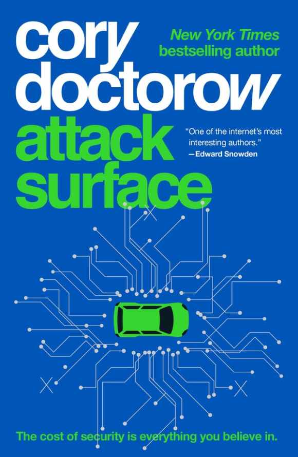 The cover for the paperback of 'Attack Surface.'