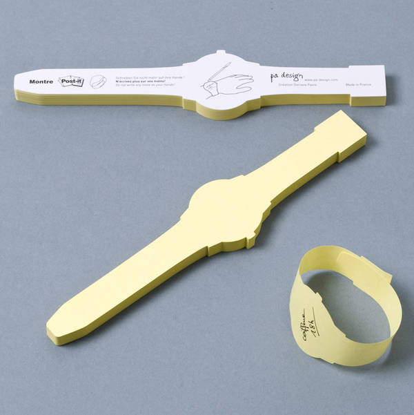 useful post-it like watch