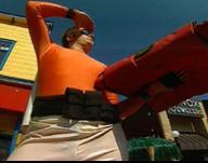 Von echten Helden: Pizza Bote im Heldenoutfit überwältigt Handtaschendieb oder die Berufskleidung für Lieferservice