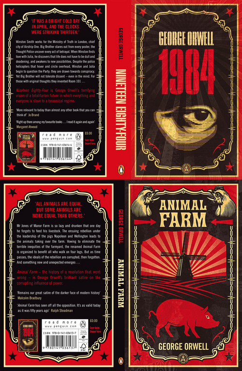 Shepard Fairey S Covers For Orwell S Animal Farm And 1984 Boing Boing