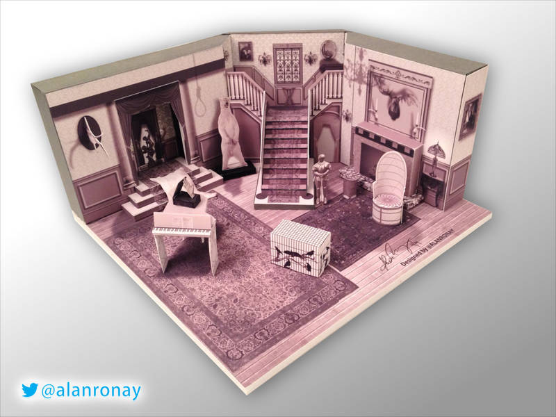 miniature addams family set / boing boing