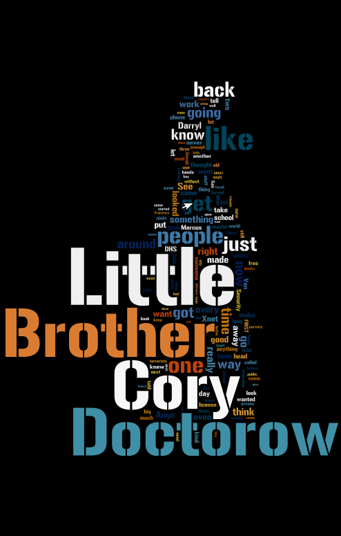 Cool free cover-image for Little Brother from Wordle | Cory