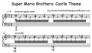 Sheet-music for Super Mario / Boing Boing