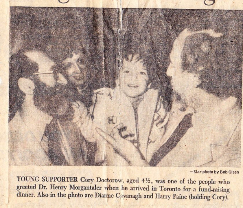 A 1976 Toronto Star photo depicting me with Dr Henry Morgentaler. Photo by Bob Olsen.
