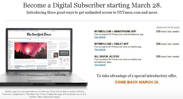 New York Times paywall: wishful thinking or just crazy