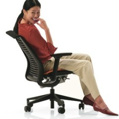 Posture Chair Demo Office Chairs Reviews Steelcase Think - Self-adjusting Office-chair Heaven / Boing