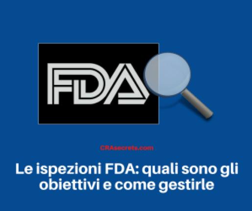 Ispezioni FDA obiettivi
