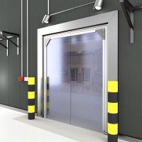 Single Panel PVC Crash Door - Crash Doors