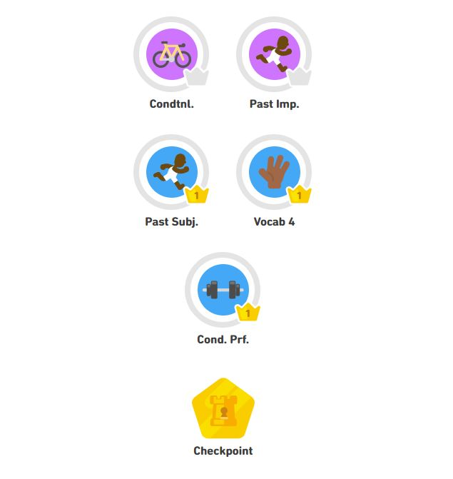 Duolingo review: checkpoints are a very handy tool