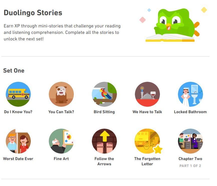 Duolingo review: stories