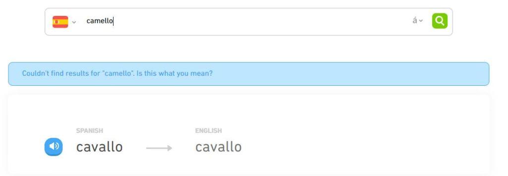 Duolingo review: the dictionary