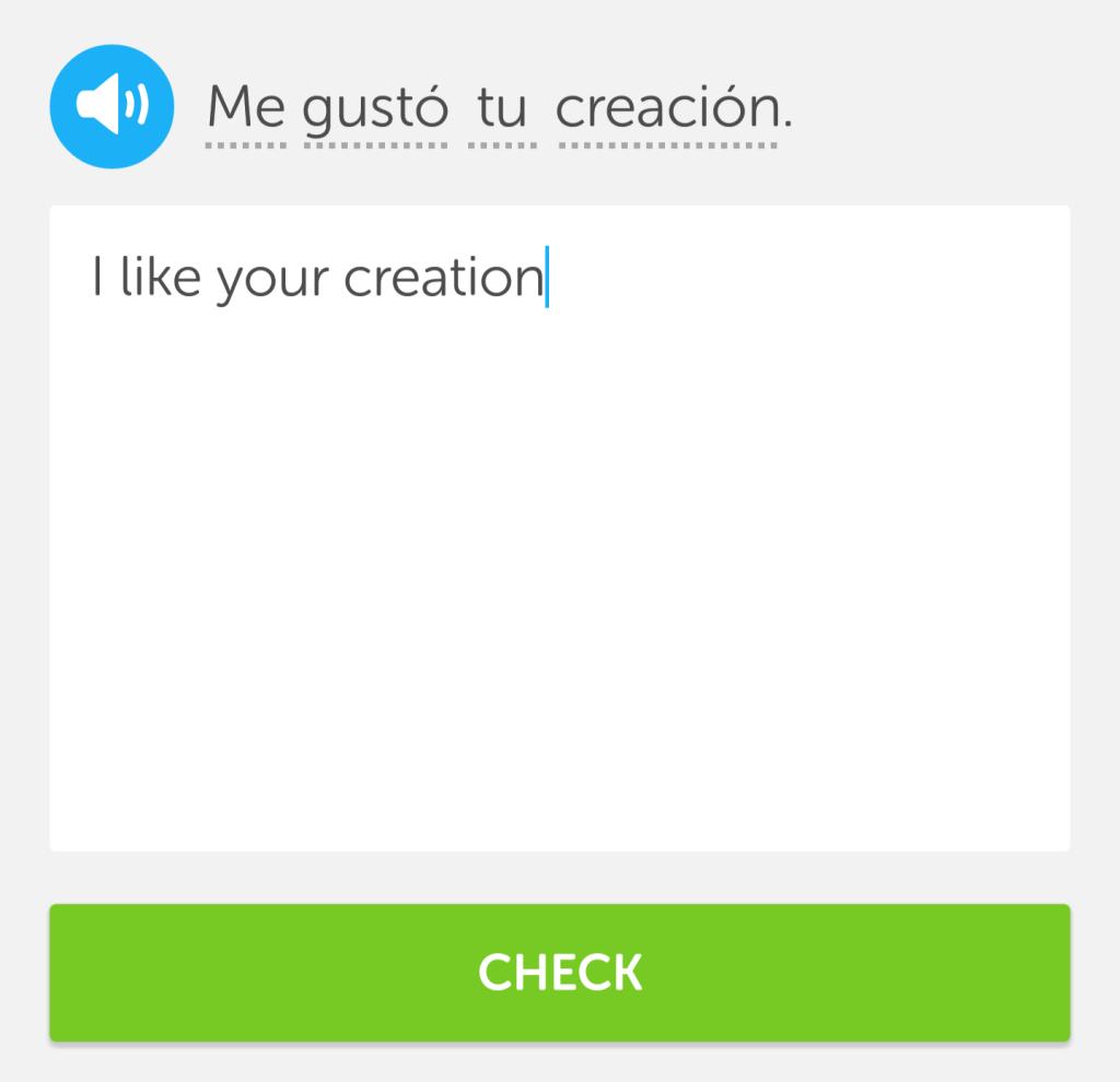 Memrise vs Duolingo: Duolingo sentences