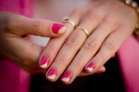 CrashingRED How to - Pink nails with gold embellishments ...