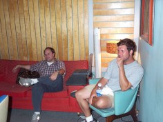 Dave and Neilson check out the Boz