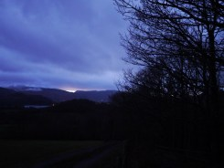 The 'sunset' over Keswick