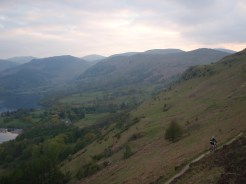 Evening riding by Ullswater
