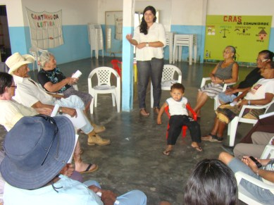trabalho com o grupo - orientações e discussão e avaliação do Projeto