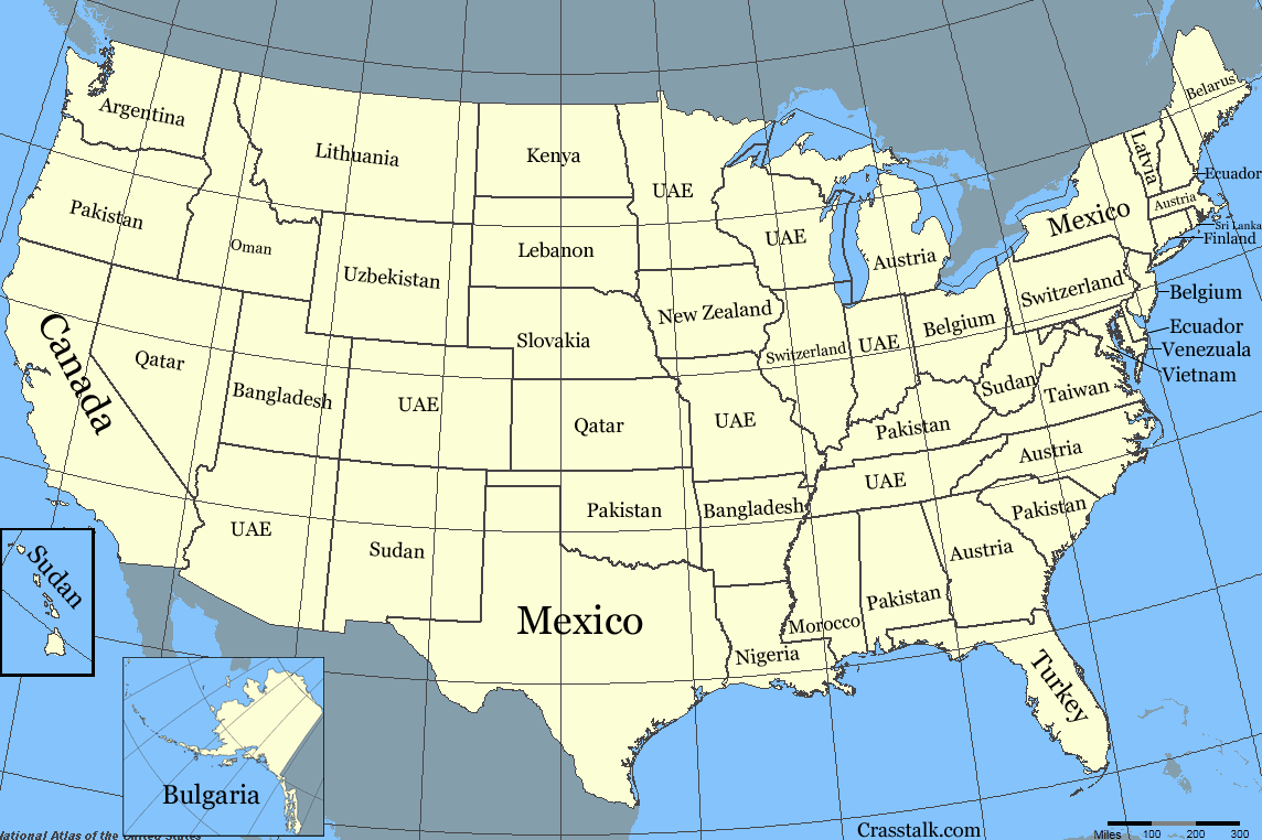 Blank map of the world with us states, map of the world with us states, world map with us states vector,. Infographic If States Were Countries Crasstalk