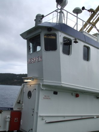 # 10th ferry's name is Jesper. New Thunderstorm cloud are coming behind us...