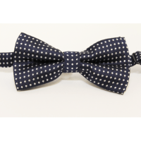 Bow tie (small)Navy blue and white