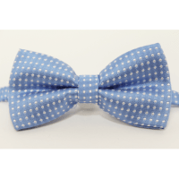 Bow tie (small) Blue and white
