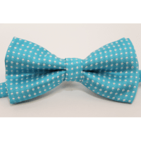 Bow tie (small) Turquoise and white