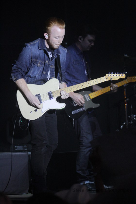 Scotty McCreery and band at the Stampede Music Festival, Pukekohe, New Zealand, Saturday 4th March,