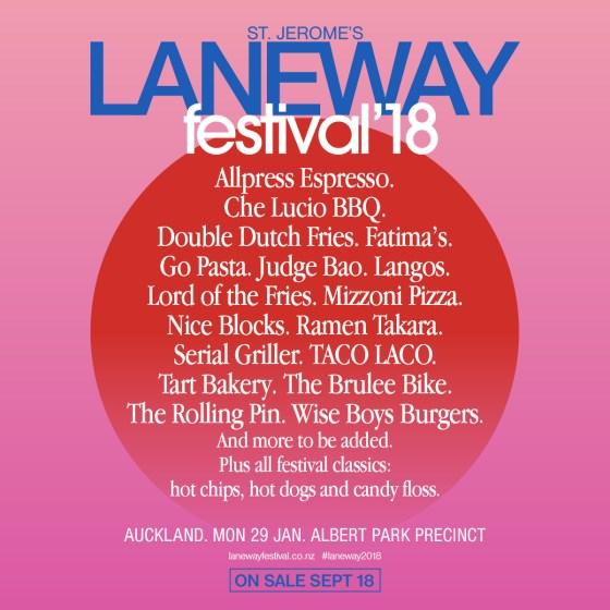 Laneway Festival Food Lineup