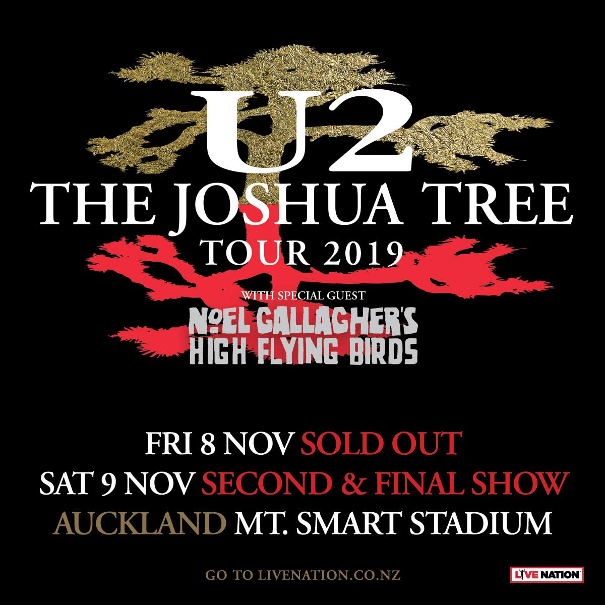 - The Joshua Tree Tour 2020  Soldier Field  June 3 U2 announce second Auckland date for the Joshua Tree Tour 2019