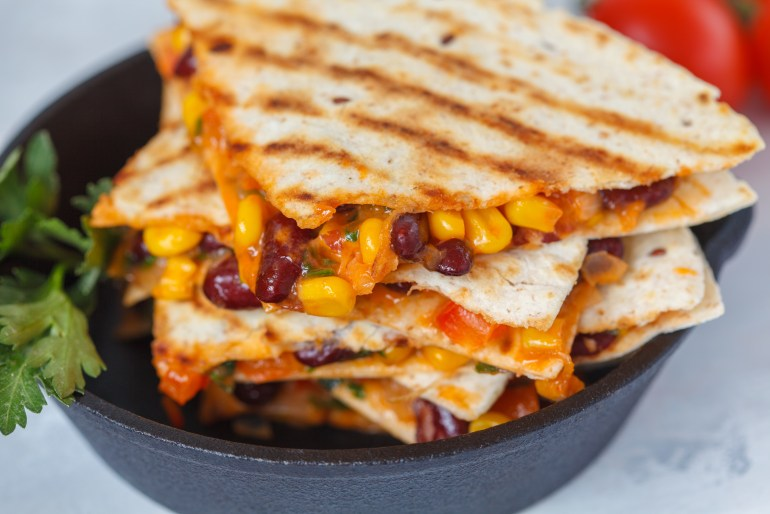 foods you've never grilled before, grilled quesadilla