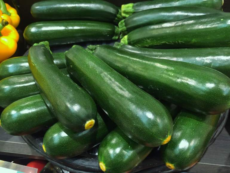 All the produce in season in July_zucchini