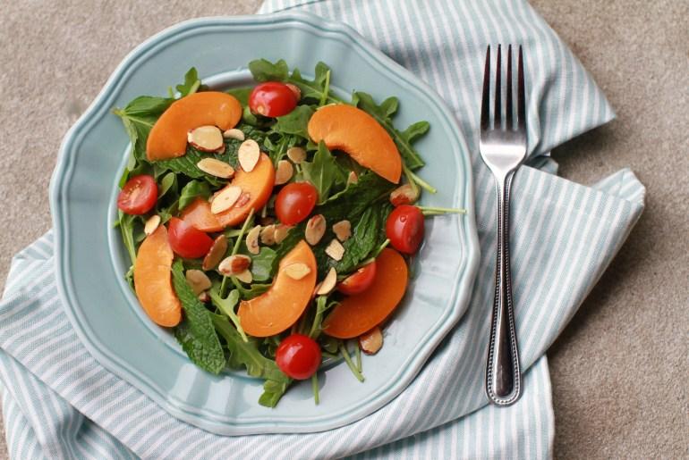 Arugula, mint and apricot salad2