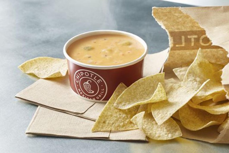 Chipotle finally delivers queso to customers in its stores, nationwide.