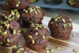 Chocolate Pumpkin muffins_2