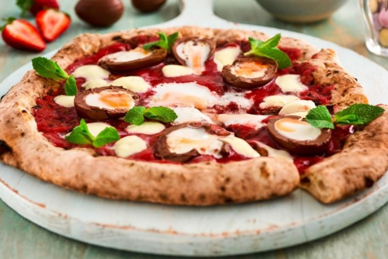 Cadbury Creme Eggs Top Pizzas For An Easter Themed Twist by Everybody Craves