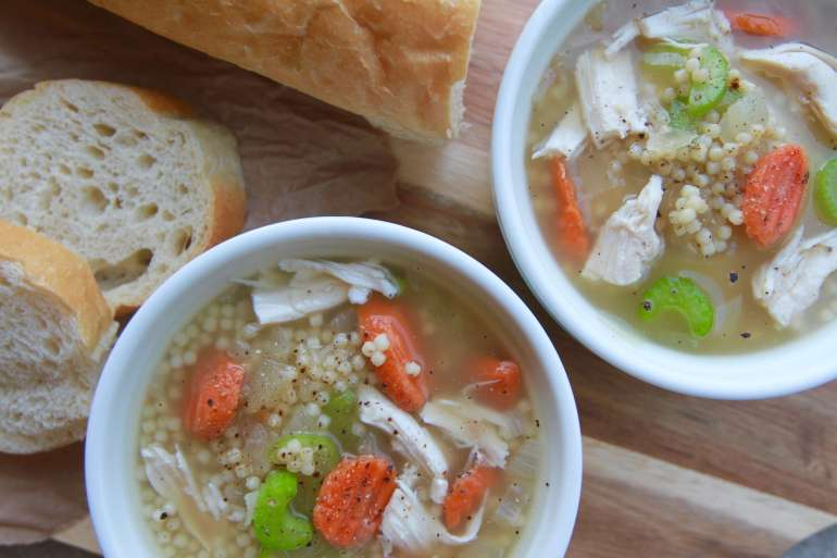 Easy 20-minute Bone Broth Chicken Noodle Soup2