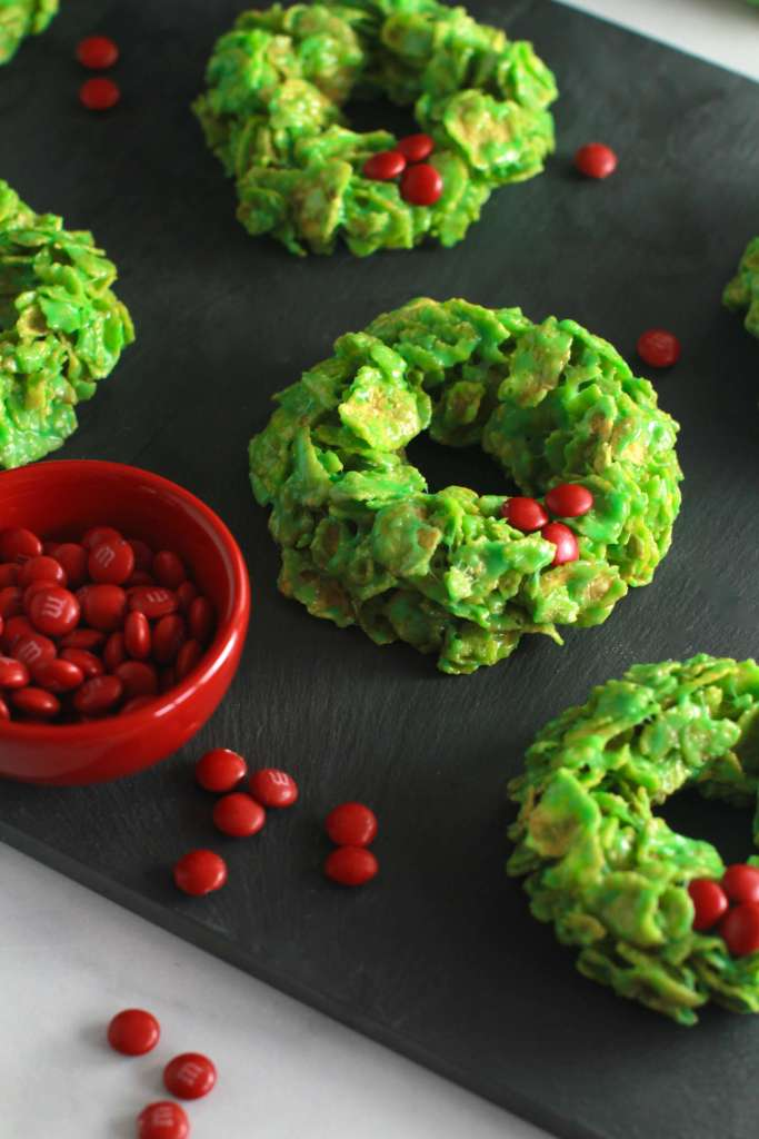 Easy Christmas wreath cookies_2