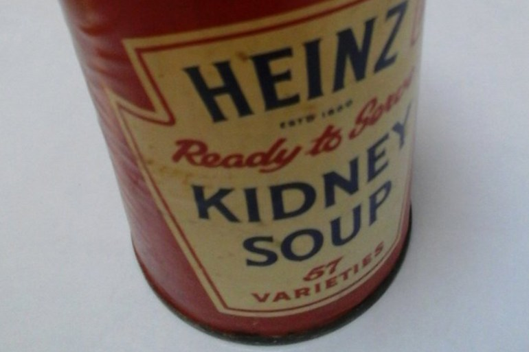 Food bank received antique Heinz soup can donation