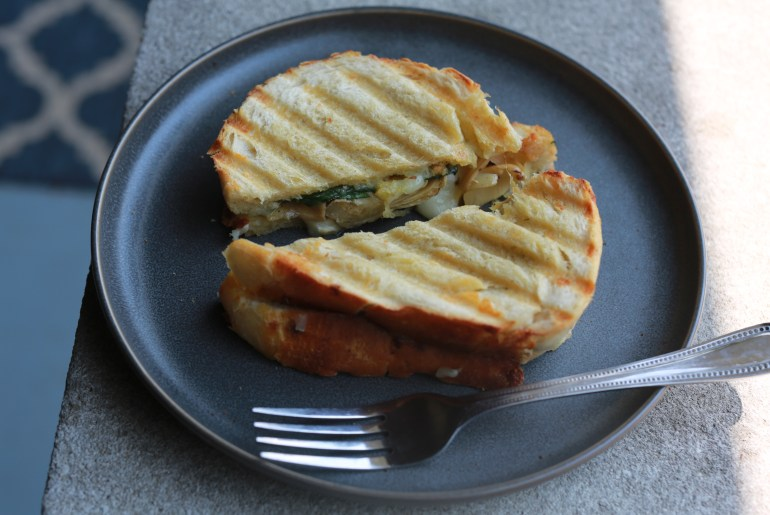 Grilled artichoke spinach panini recipe