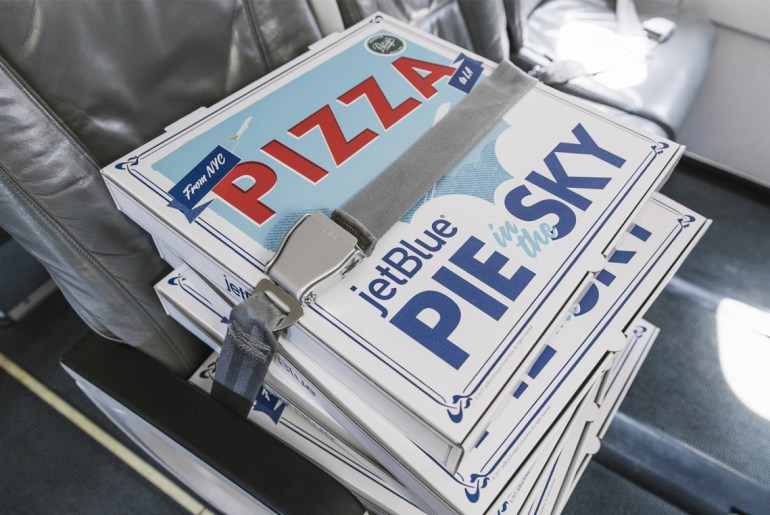 JetBlue will fly NYC pizzas cross-country for delivery in LA