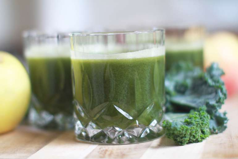 Kale, Spinach, Pear Lemonade
